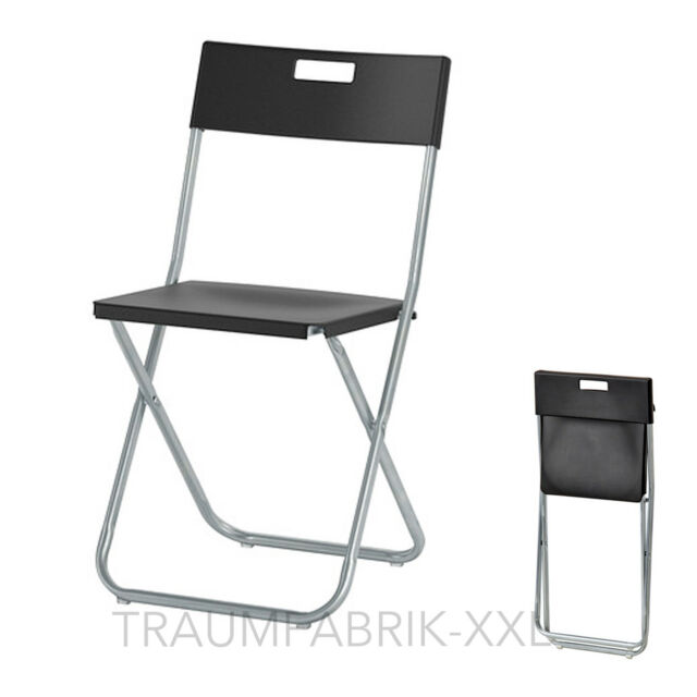 Ikea silla plegable Oficina conferencia visitantes set negro