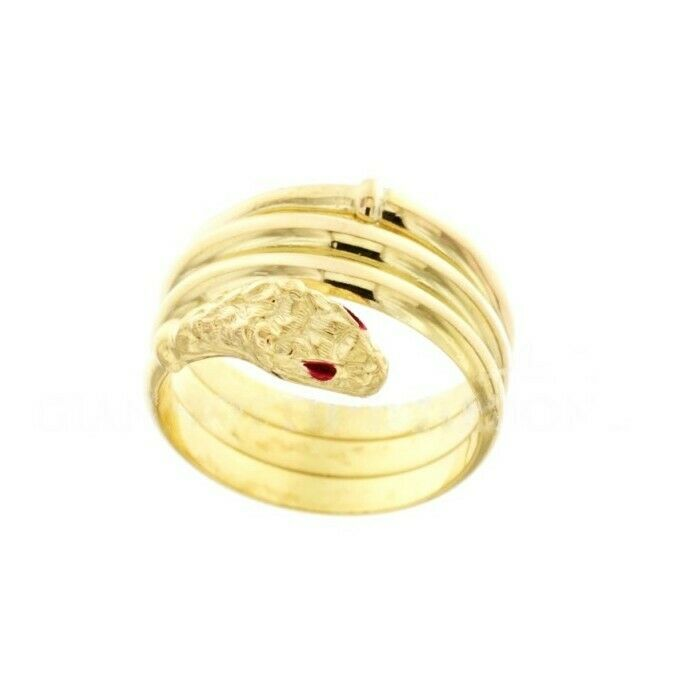9ca390275cf4c ANELLO SERPENTE IN gold yellow 18 CARATI ncxixp2294-Jewelry ...