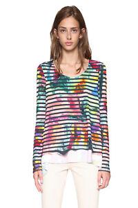 Top 8 Aretha Desigual 54 Xs Multicoloured Tshirt Uk Rrp Striped 18 xxl gq6TwBS