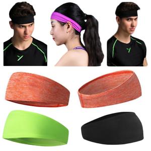 f04fb0b2a1d0 Sweat Headbands Bulk Running Gym Women Sport Yoga Hairband Stretch ...