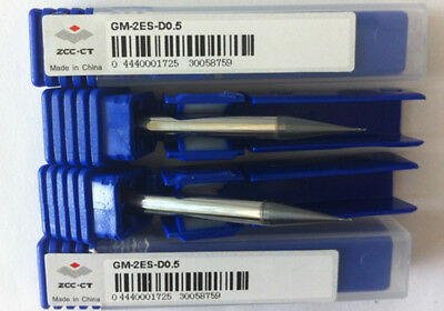 5p× D0.5mm Diameter milling cutter 2flute VHM End Mill Tungsten steel GM-2ES-D0.