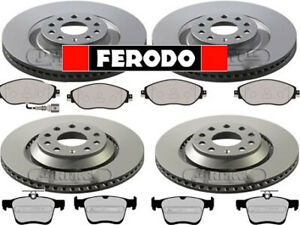 FERODO-VW-GOLF-MK7-GTI-R-4-MOTION-FRONT-amp-REAR-BRAKE-DISCS-AND-PADS