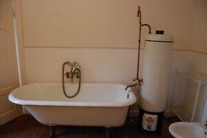 Badewanne Freistehend Alt Metall Original überholte Armatur