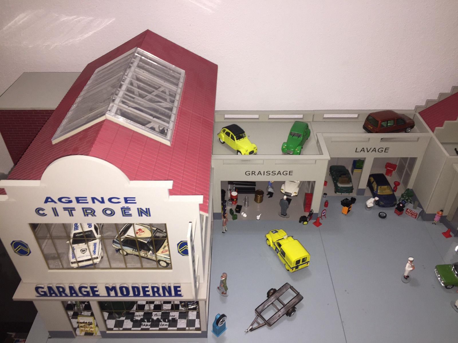 Diorama 1 43 Garage Moderne Agence Citroen Lavage Graissage super dettagliato