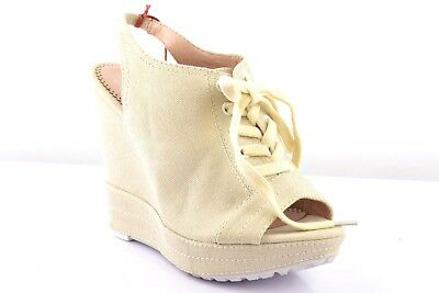 Gerade Miss Sixty Damen High Heels Sandalette Peeptoes Sandalen Wedges Schuhe Beige 37