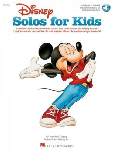 Disney Solos for Kids Vocal Collection Book and Audio NEW 000740197