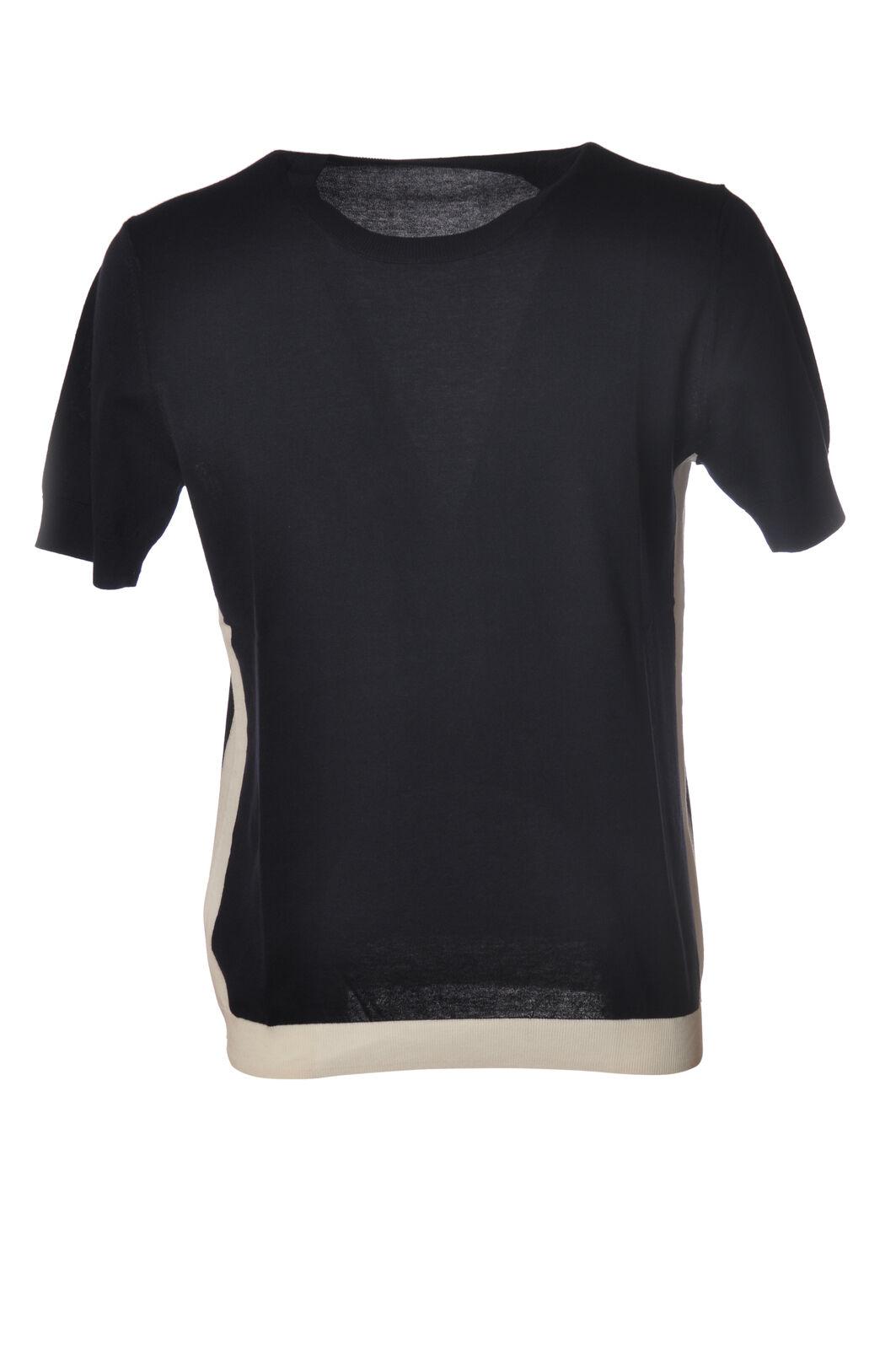 Paolo Pecora - Knitwear-schweißers - Man - Blau - 6098309G191153