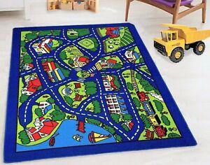 Kids Rugs Nursery Decor Mat 8x10 Classroom City Map Rugs
