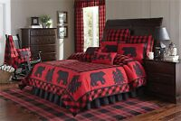 Park Designs Buffalo Check Collection King Quilt & 2 King Shams 3 Pc Bedding Set