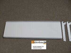 4-x-Tegometall-Fachboden-100x30-cm-lichtgrau-gebraucht-mit-oder-ohne-Konsolen