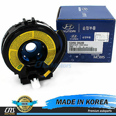 GENUINE Steering Wheel Clock Spring for 2007-10 Hyundai Santa Fe OEM 93490-2B200