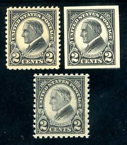 USAstamps-Unused-FVF-US-1923-Harding-Set-Scott-611-612-OG-MNH-610-MLH