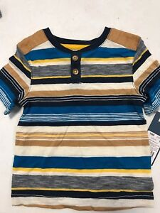 Genuine Kids by Oshkosh Infant Boys Pullover Strippe Blue Size 18 Months NWT