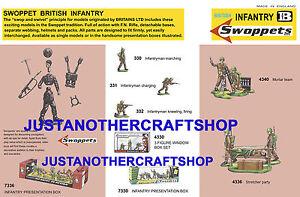Britains-swoppets-Infanteria-britanica-decada-de-1960-A3-Cartel-Anuncio-Tienda-firmar-el-prospecto