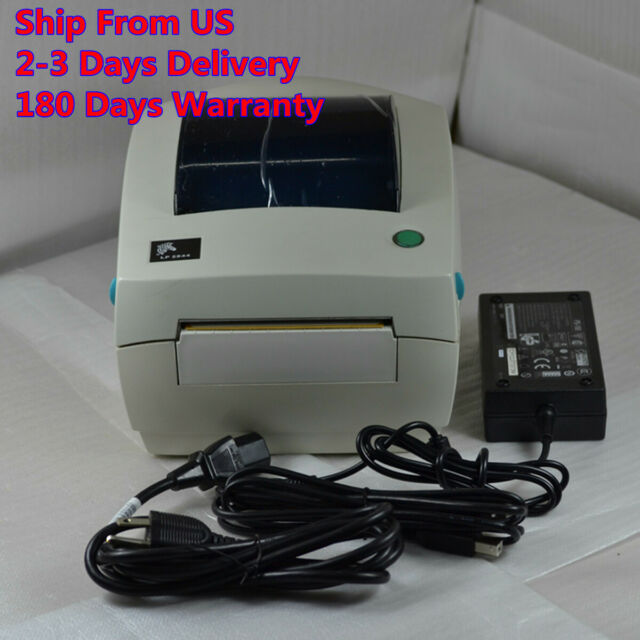 LP2844 Zebra LP 2844 Direct Thermal Label Printer w/ Pwer supplier Free shipping