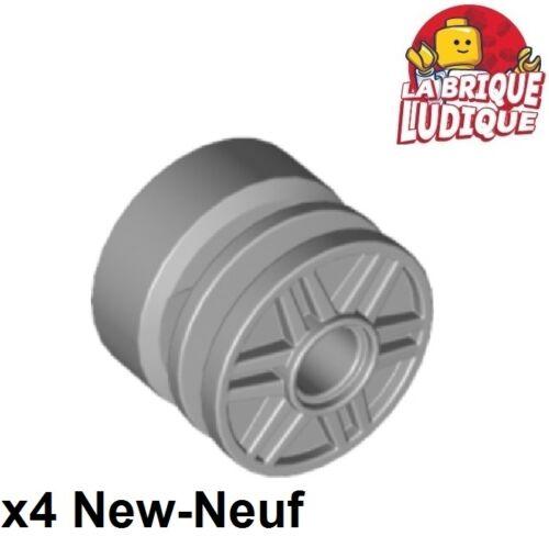 4x roue jante wheel 18mm D gray 55981 NEUF x 14mm Pin Hole gris//light b Lego