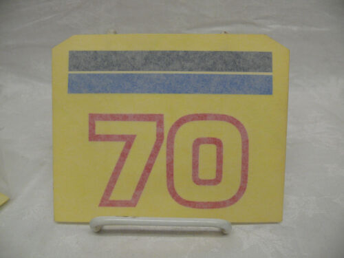 70 hp 360-67536-1 Sticker 1 OEM Tohatsu Hood Engine Cover Rear Marker Decal