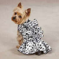 Zack & Zoey Snow Leopard Satin Dog Dresses Dog Clothes - Clearance