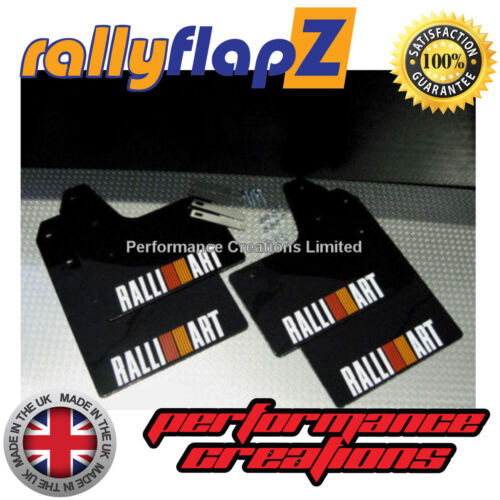 Mudflaps Mitsubishi Evo 5//6  Mud Flaps Kit Inc:Fixings Black 4mm PVC O//R Stripes
