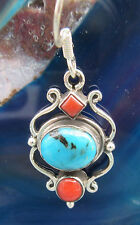 Earrings Turquoise hl Stone d Native american u coral red Sterling Silver 925