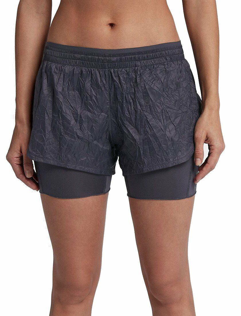 Womens NIKE RUNNING DIVISION Crinkle 2 in 1 Shorts. Size Small.  AJ4197-081