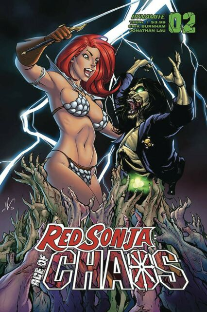 RED SONJA Ratio ~ Dynamite AGE OF CHAOS COMIC BOOKS #1,2,3,4,5,6 Variant