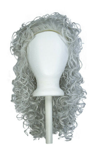 18'' Messy Curly Layered Cut W/ No Bangs Silver Gray Wig Cosplay Cavalier