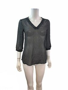 Old Navy Women's Size XS Semi Sheer 3/4 Sleeve V Neck Blouse