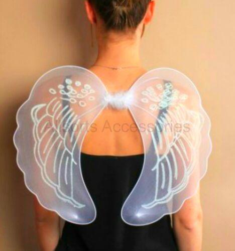 Large White Angel Fairy Wings Fancy Dress Hen Night Nativity Fairy Dressing Up