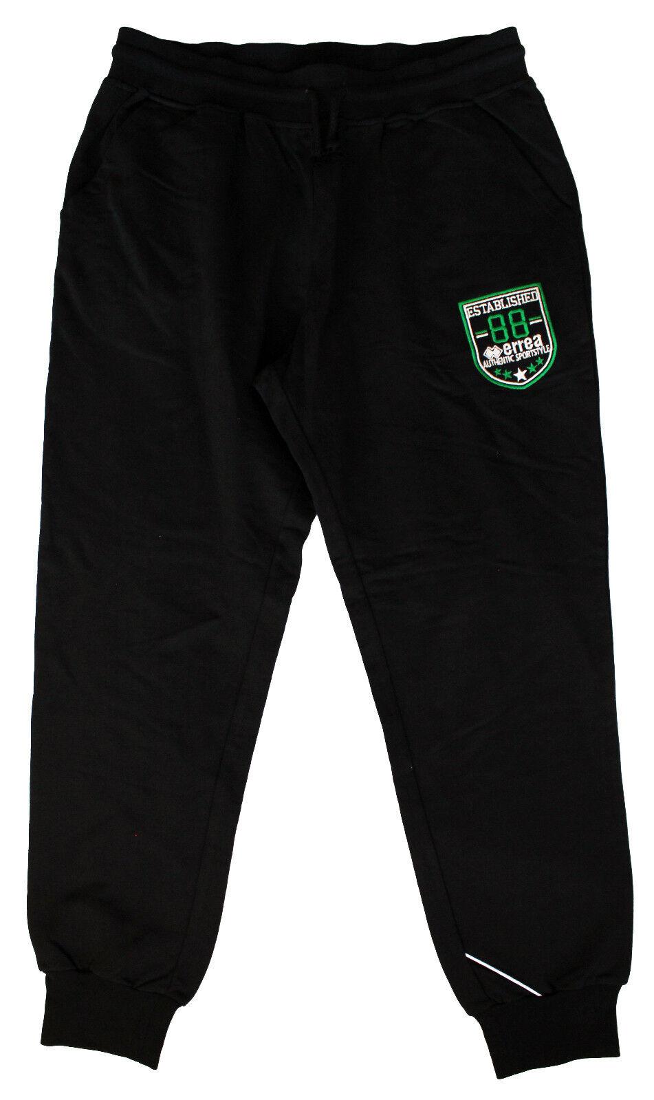 ERREA REPUBLIC Chet nero long pants uomo pantaloni lunghi neri uomo cod. EY785