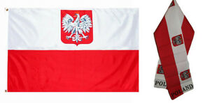 Wholesale-Combo-Set-Poland-Eagle-Country-3x5-3-x5-Flag-and-8-034-x60-034-Scarf