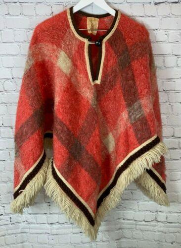 Vintage HUDSONS BAY COMPANY Orange Poncho Sweater