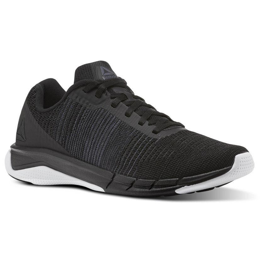 Reebok Fast Flexweave Mens Black White Runner Running Shoes CN1600 All Sizes