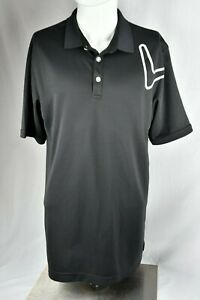 REALLY-NICE-Callaway-Golf-Mens-Black-Short-Sleeve-Polo-Shirt-Size-Large-L