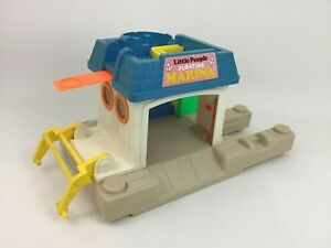 Floating-Marina-2582-Fisher-Price-Little-People-Playset-Only-Vintage-1987-Toy