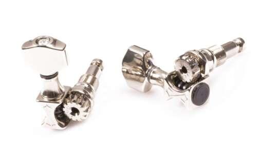 Genuine Sperzel SoundLok 6 in line locking graduated Nickel tuners NEW