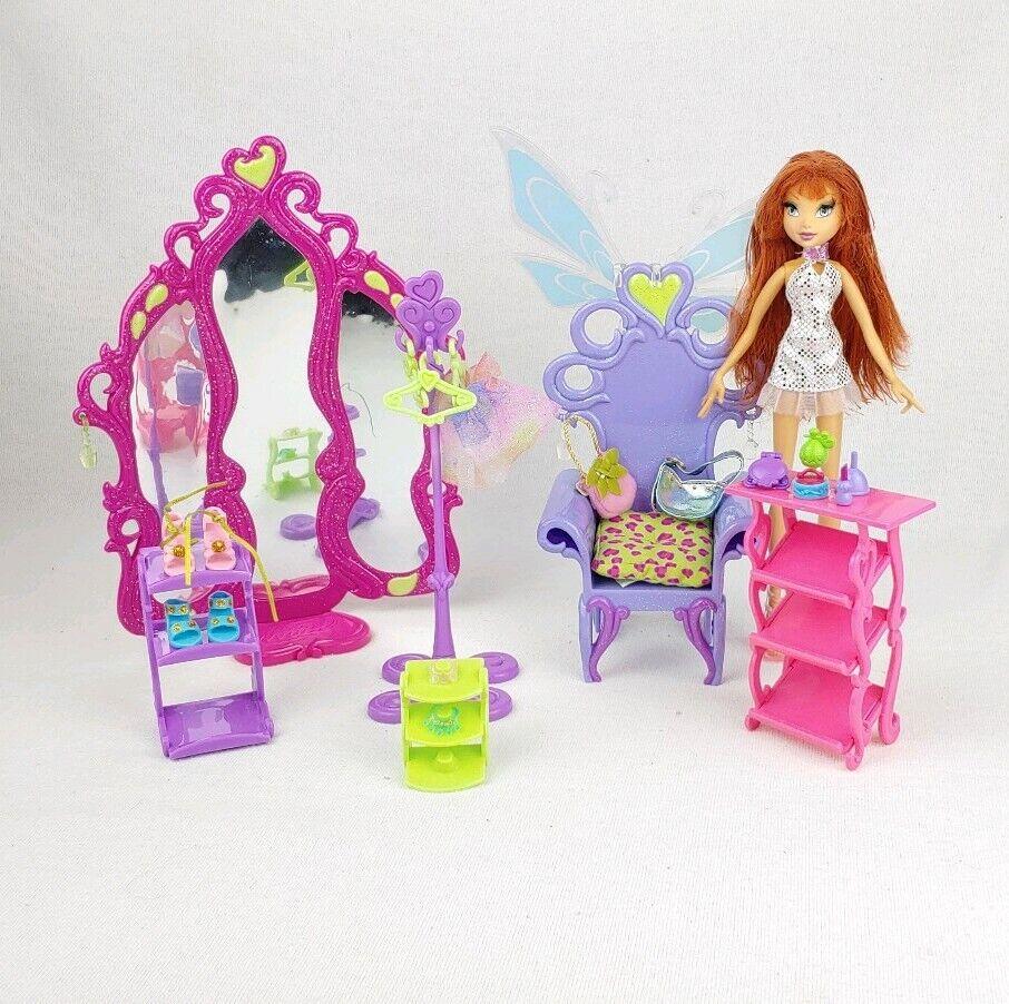 Mattel Winx Club 2008 Glam Magic Enchantix Wardrobe Playset With Bloom Doll