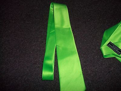light green TIE mens MANZINI NECKWEAR COLLECTION NEW NO TAG 100%POLYESTER NICE