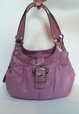 Coach Soho Leather Lynn Hobo Bag No F15527 Berry Purple