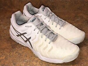 Pagar tributo reemplazar legación  ASICS Gel Resolution 7 Tennis Shoes White E701Y Trainers mens 11.5 | eBay