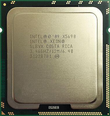 Intel Xeon Processor X5690 SLBVX 6 Core 12M Cache 3.46 GHz 6.4 GT//s Intel QPI