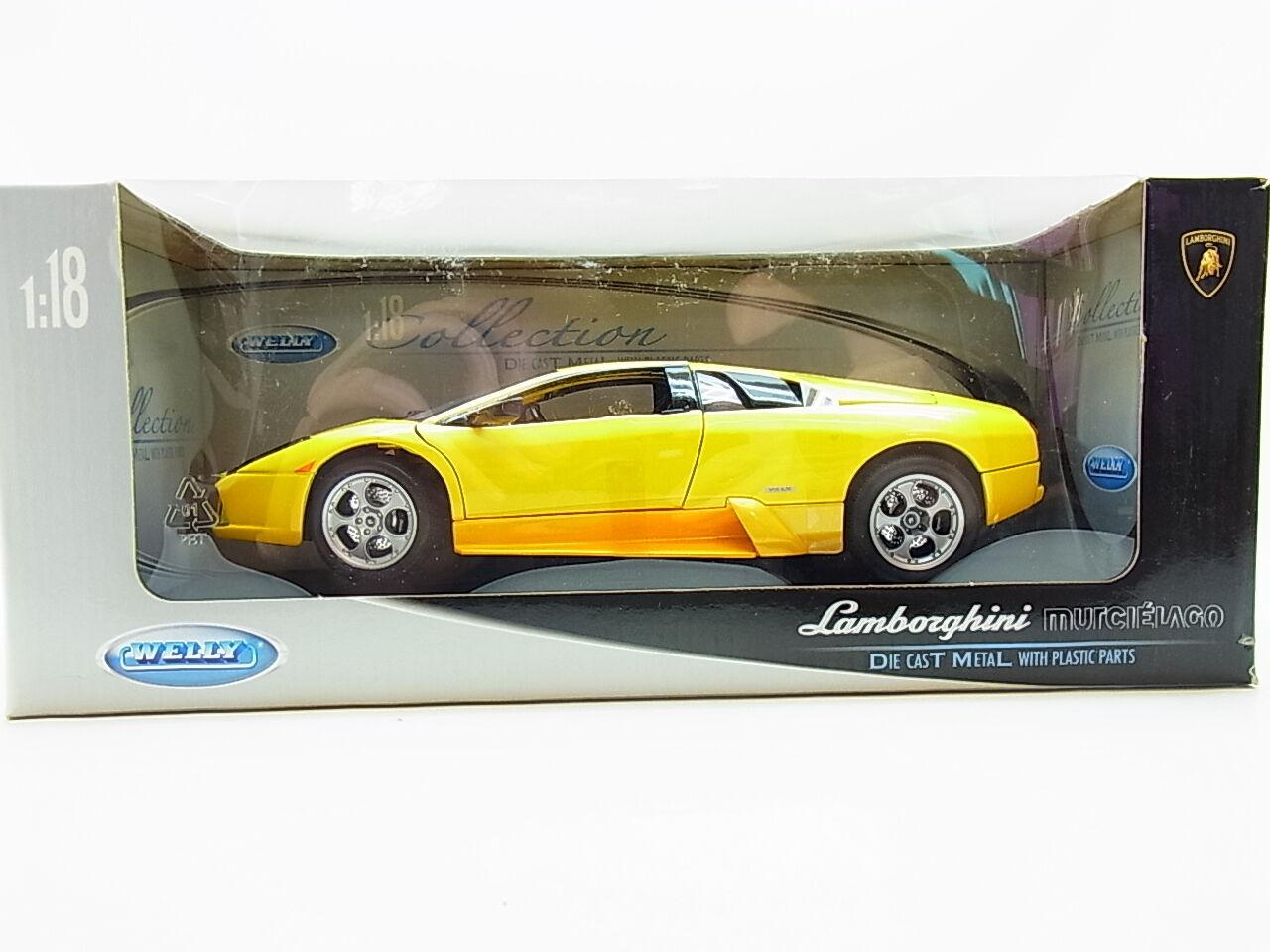Lot 12890   Welly  Lamborghini Murciélago  La-Cast Voiture Miniature 1 18 NEUF dans neuf dans sa boîte