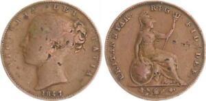 Grossbritannien-Farthing-1847-Victoria-Jahreszahl-4-ueber-1-gepraegt-s-ss