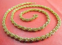 14k Karat Gold Filled Rope 18 Chain Necklace