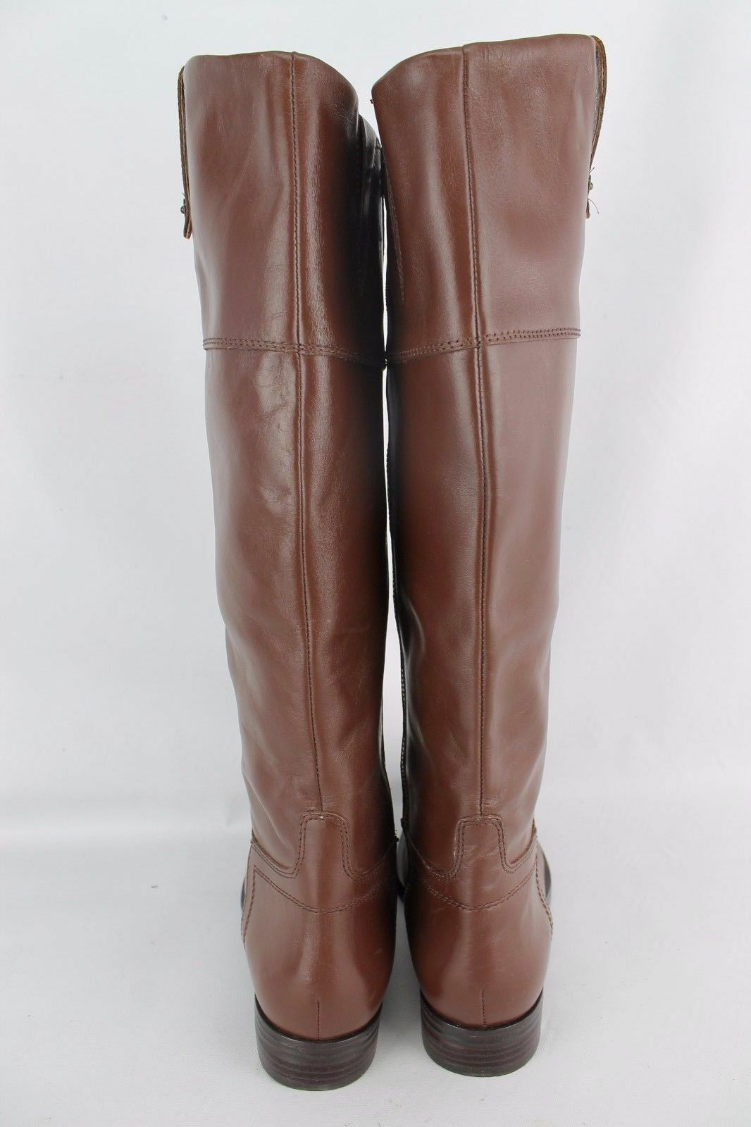 Enzo Enzo Enzo Angiolini Ellerby Brown Leather Knee-High Boots Sz 7 M NEW c247b7