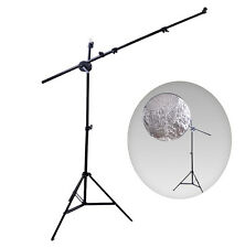 """Reflector Holder Boom Arm Studio Stand Photography light Support 24""""-66"""""""