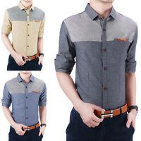 New Fashion Men's Casual Stylish Slim Fit Long Sleeve Dress Shirts 3 Colors