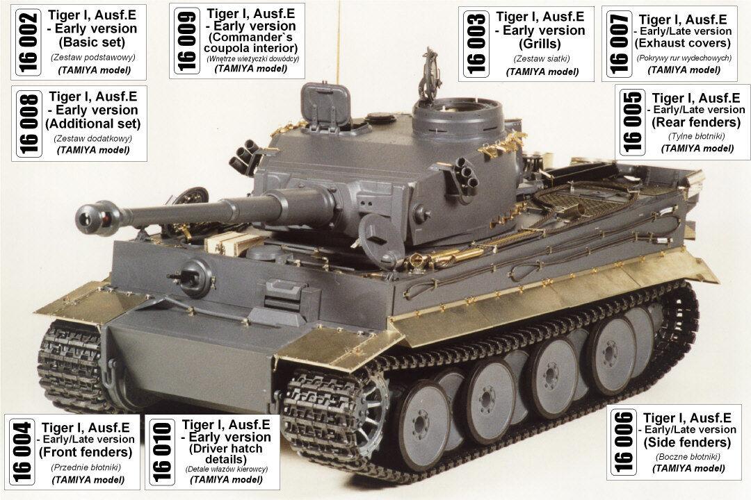 Aber 16004 E früh//spät 1:16 Frontschutzbleche Tiger I Ausf