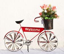 Windspiel Fahrrad Metall Windrad Garten Deko Blumentopf Shabby Welcome Schild