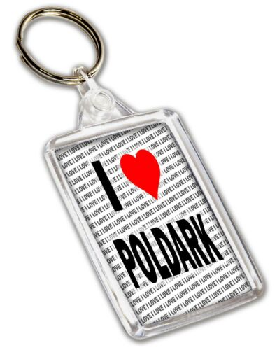 Gift Birthday I Love Poldark Keyring Stocking Filler Christmas